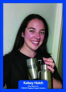 Winner Kelsey Hatch of Utah Valley University won an RTIC cup and an insulated cup from Tomcat USA.