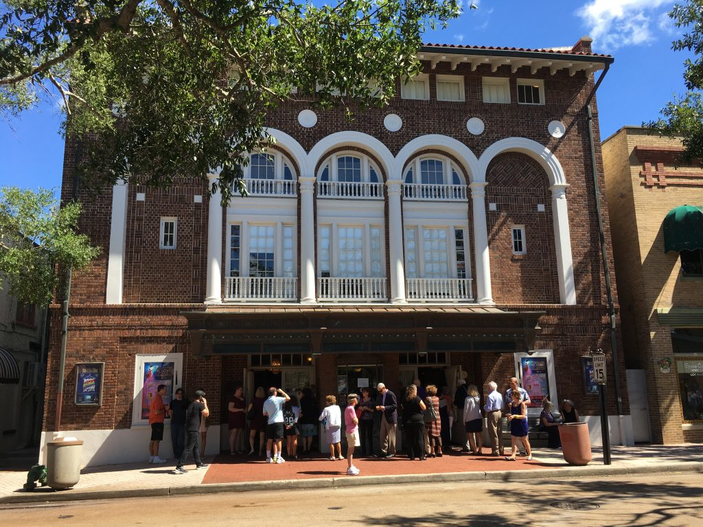Exterior of the Cocoa Village Playhouse on a brilliant sunny day. Photo courtesy of Jeremy Phelps.
