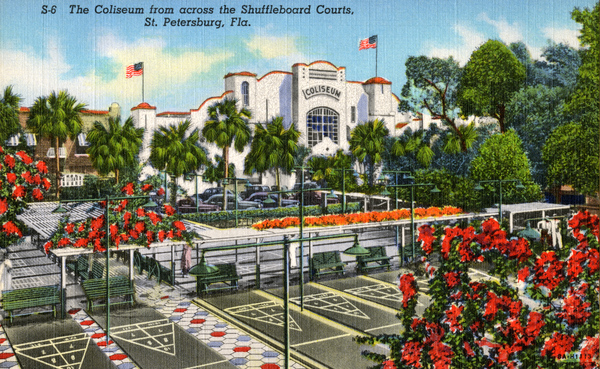St. Petersburg Coliseum 1938 Postcard