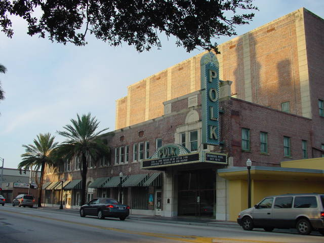 Photo of the exterior of the historic Polk Theatre from Ocala StarBanner at ocala.com. Photo courtesy of Polk Theatre.