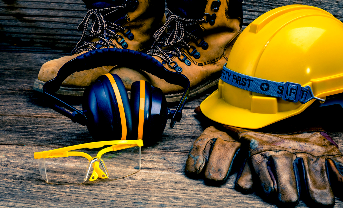 Image of safety gear used in construction, because June is National Safety Month and we're all about preventing accidents before they occur.