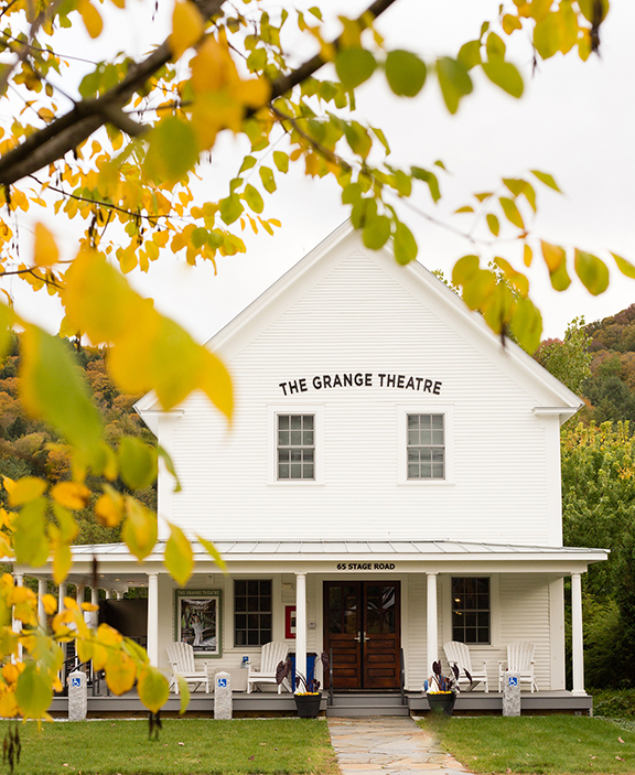 The Grange Theatre in South Pomfret, Vermont. Photo courtesy of Artistree.