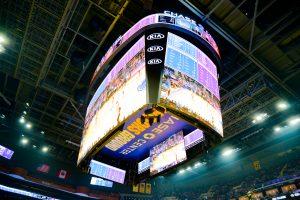 Chase Center's Center-hung Samsung Scoreboard