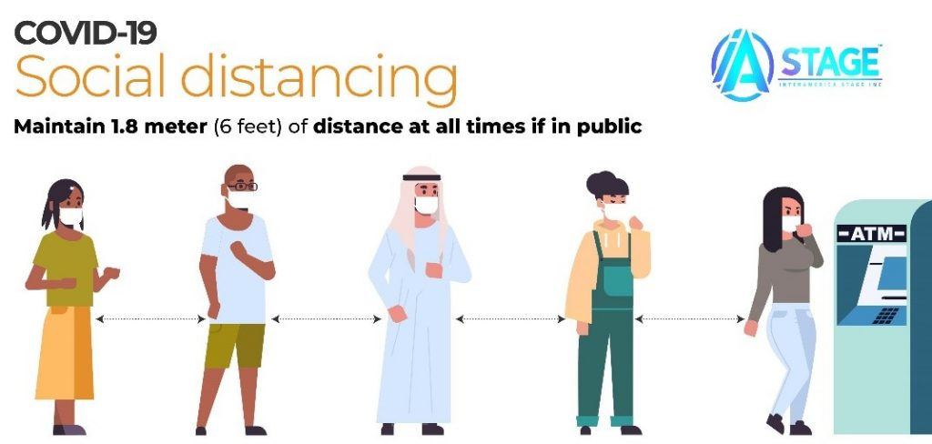To help mitigate the spread of coronavirus, social distancing is recommended.
