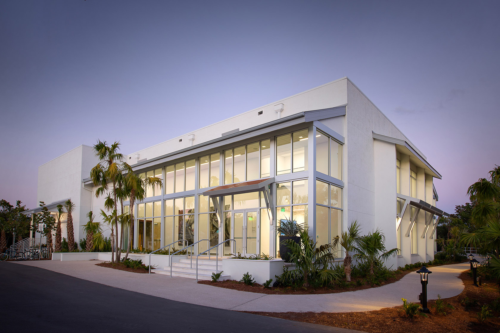 Side exterior view of Big Arts new building - photo by Stevens Construction.