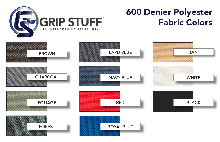 Grip Stuff by IA Stage Fabric Color Card