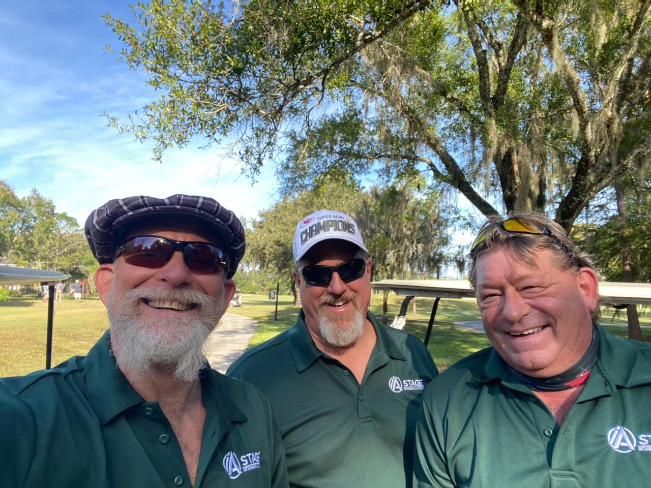 Greg Keatley, Greg Fecher, and John Gitzy at 5th Annual Survivor's Golf Tournament