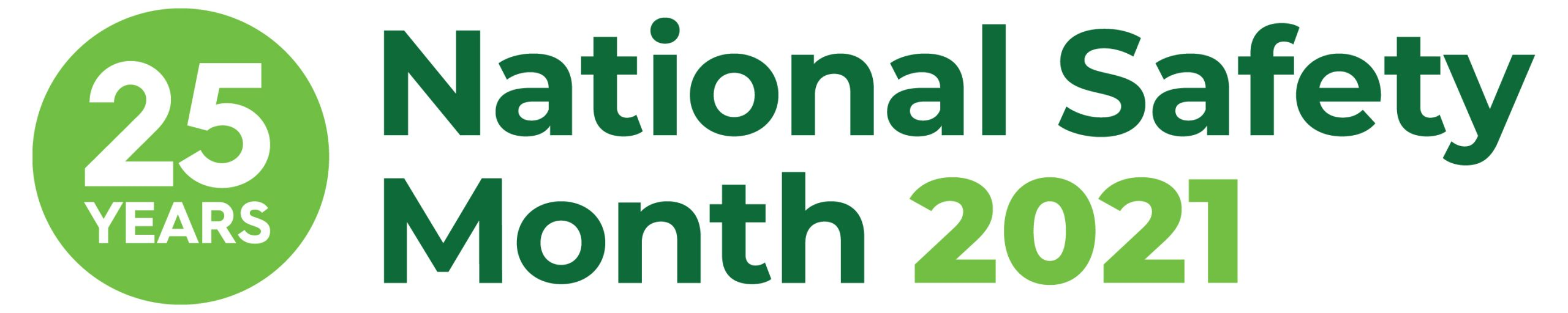 25th Anniversary green and white National Safety Month logo - week one's topic is about preventing accidents before they occur.