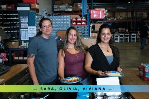 Sara, Olivia, and Viviana from the front office - the people who really keep the place running!